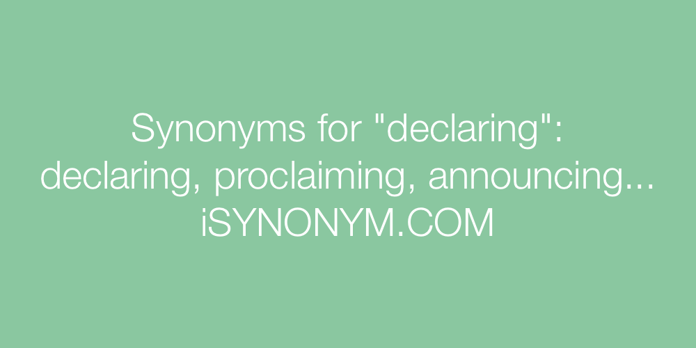 Synonyms declaring