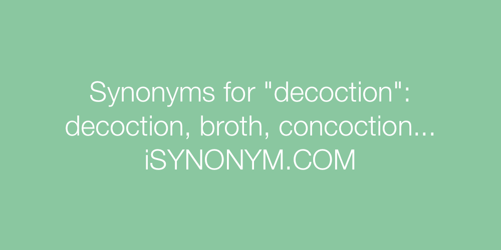 Synonyms decoction