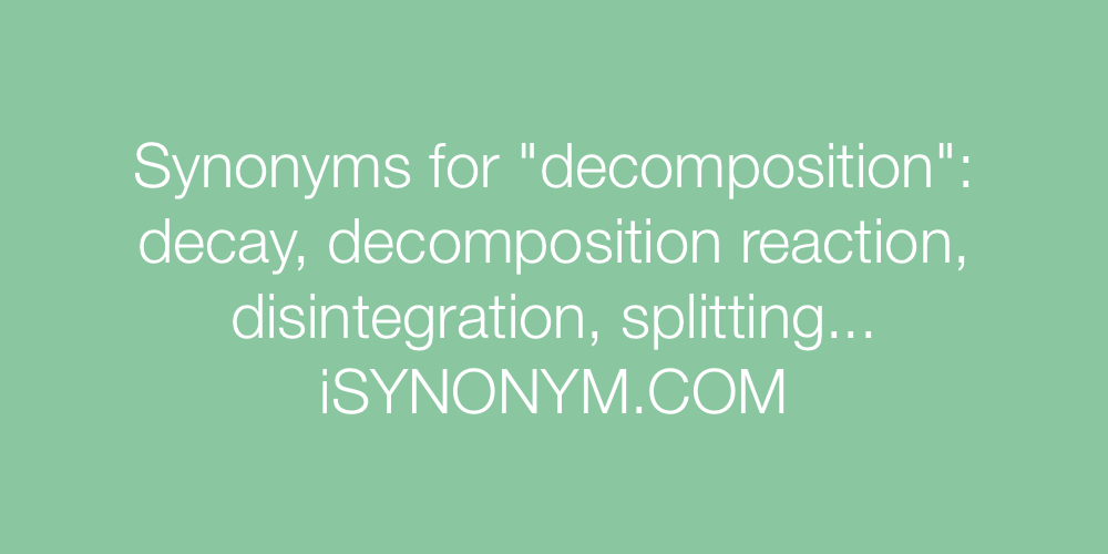 Synonyms decomposition