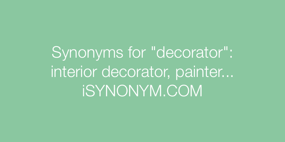 Synonyms decorator