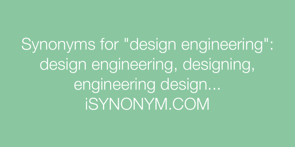 Synonyms design engineering