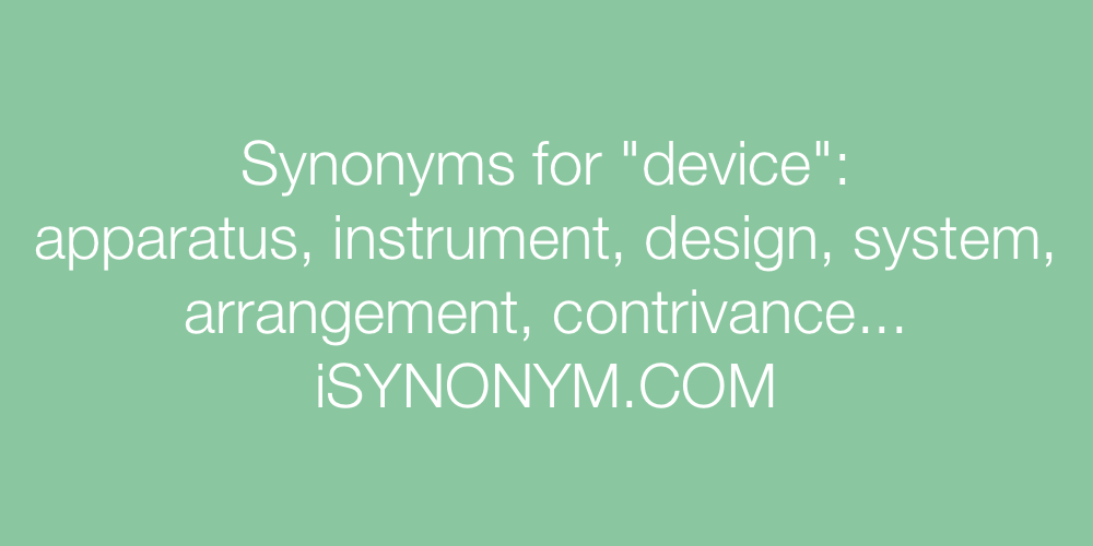 Synonyms device