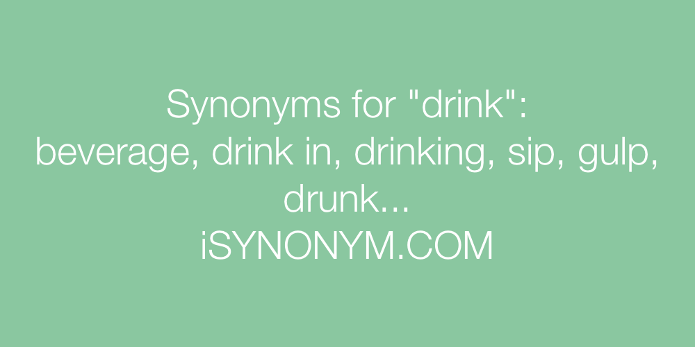 Synonyms drink