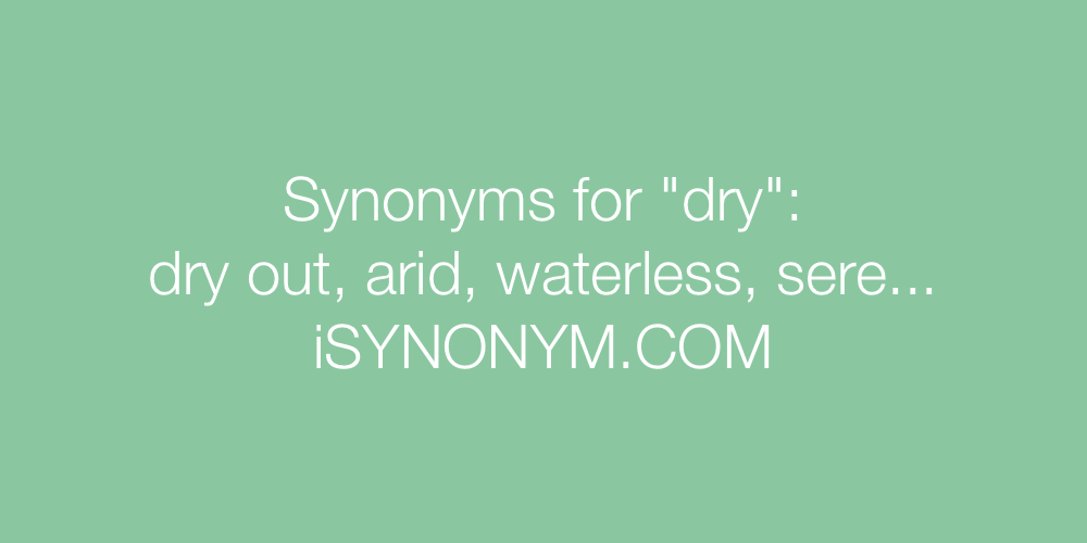 Synonyms dry