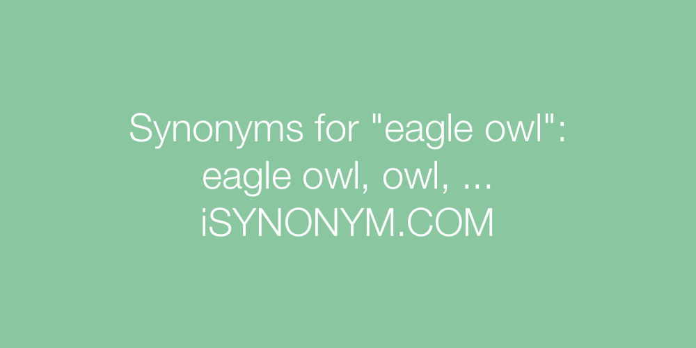Synonyms eagle owl