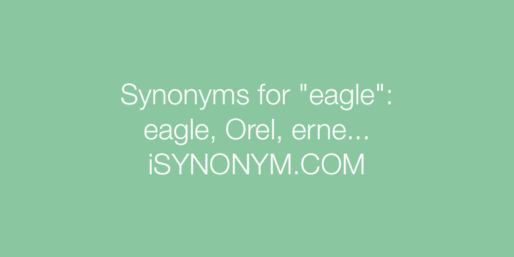 Synonyms eagle