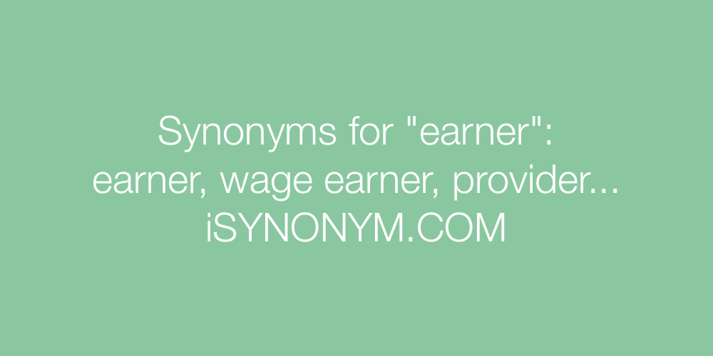 Synonyms earner