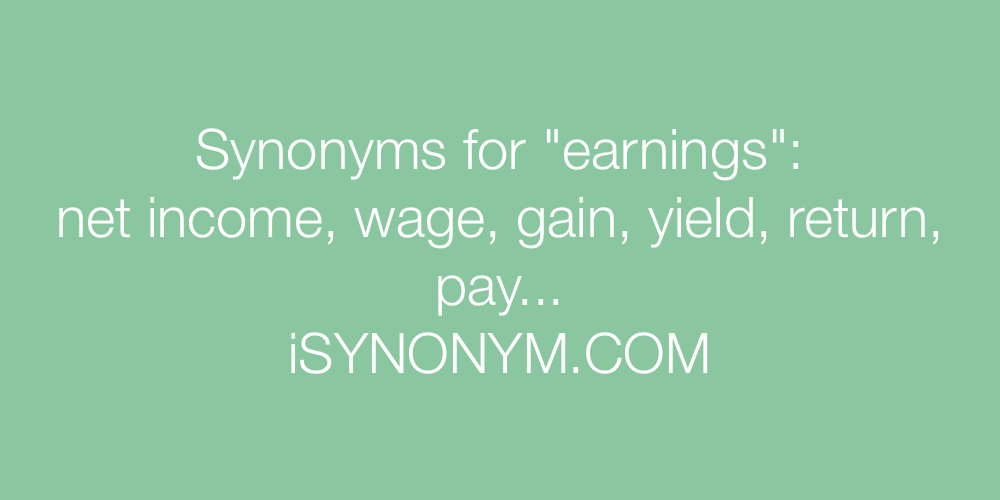 Synonyms earnings