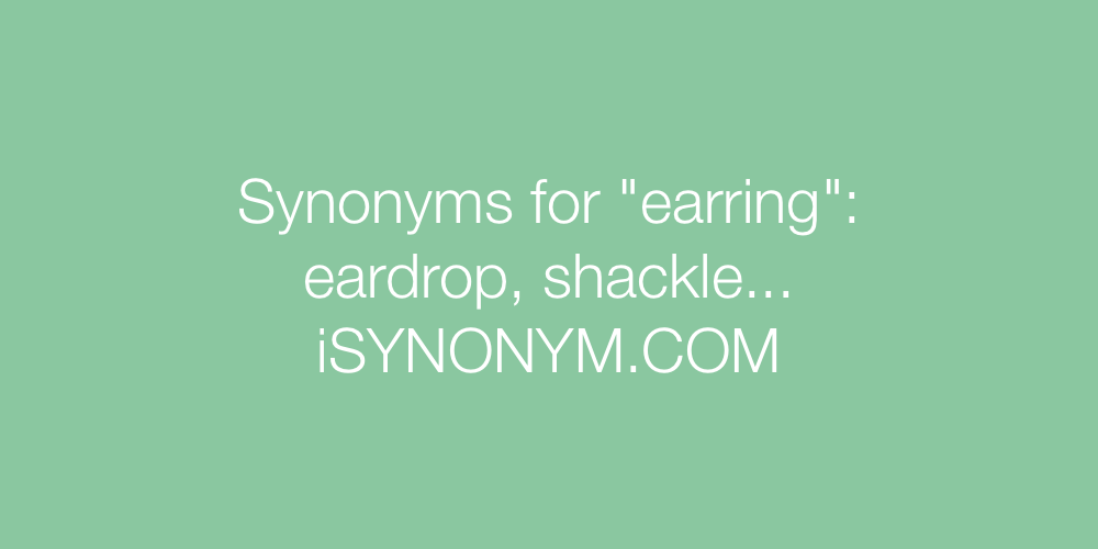 Synonyms earring