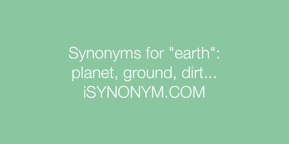 Synonyms earth