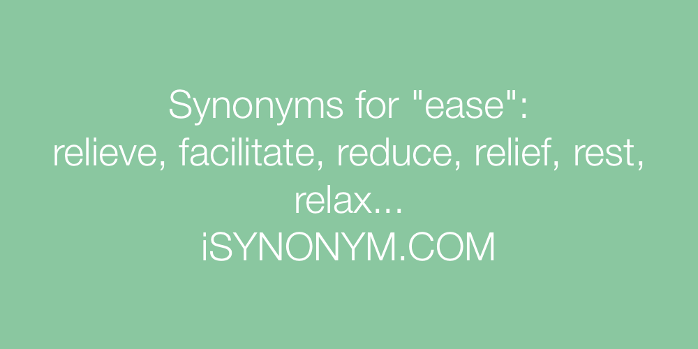 Synonyms ease