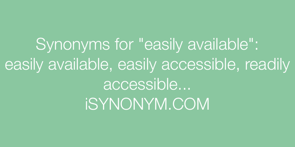 Synonyms easily available