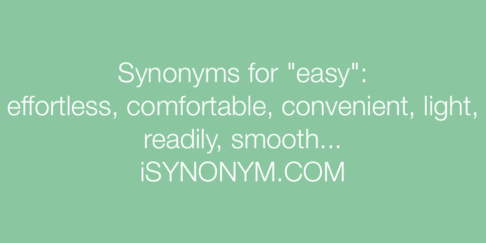 Synonyms easy