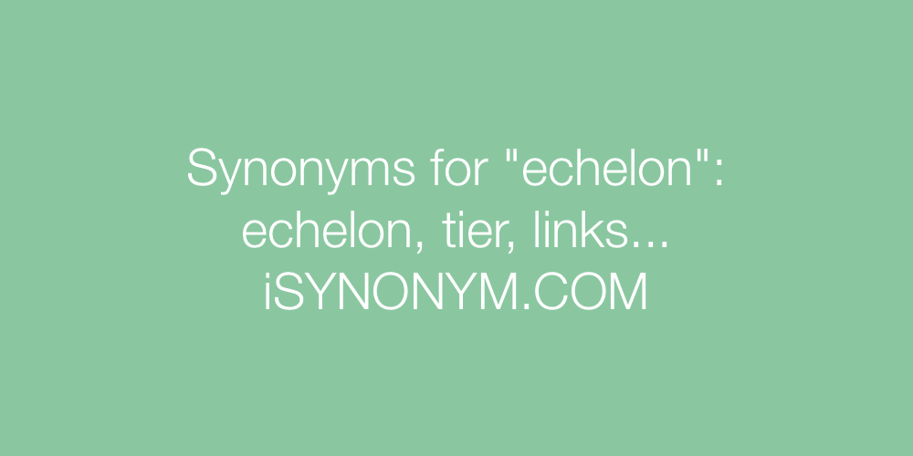 Synonyms echelon
