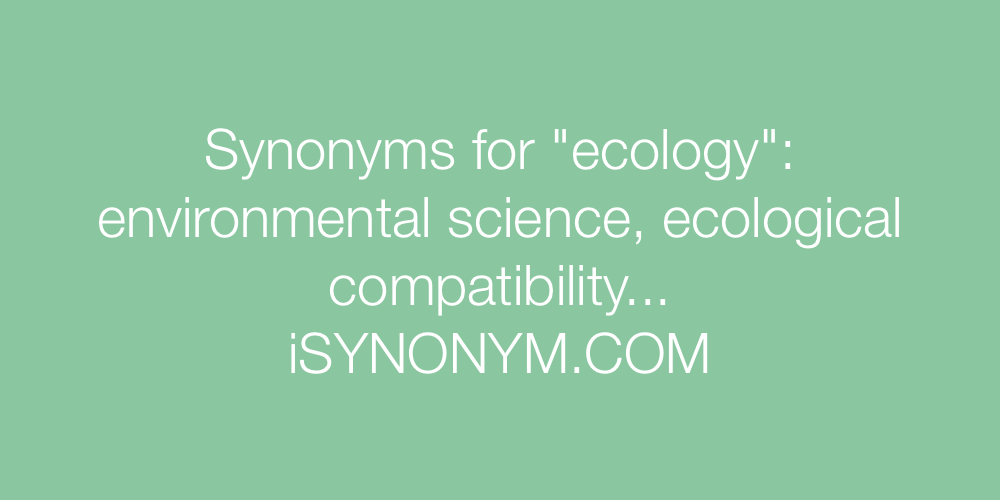 Synonyms ecology
