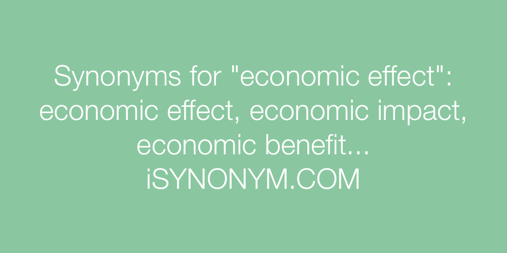 Synonyms economic effect