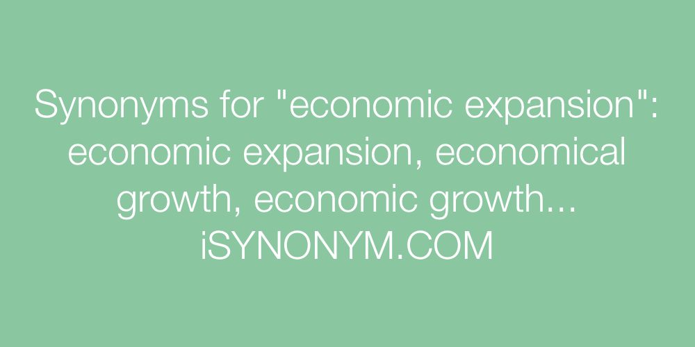 Synonyms economic expansion