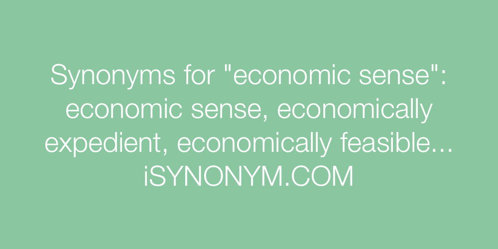 Synonyms economic sense