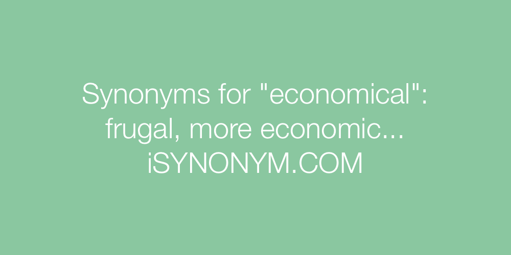 Synonyms economical