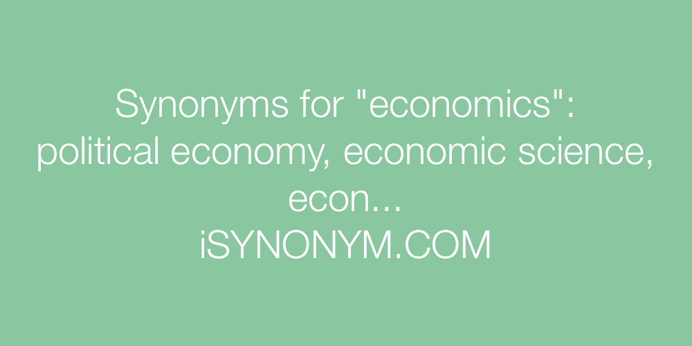 Synonyms economics