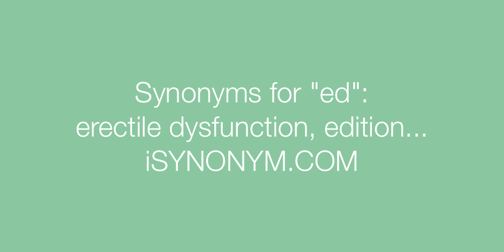 Synonyms ed
