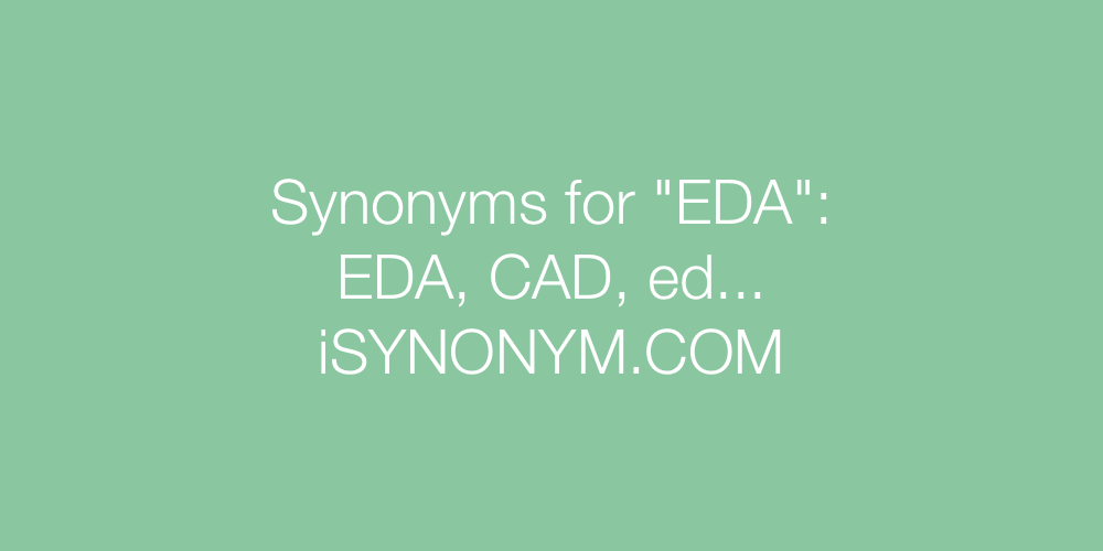 Synonyms EDA