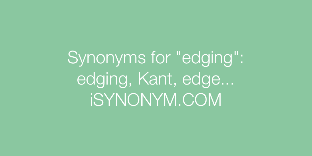 Synonyms edging