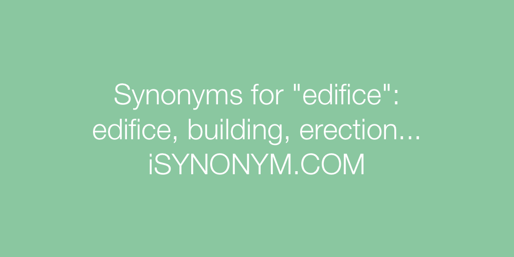 Synonyms edifice