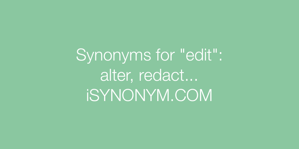 Synonyms edit
