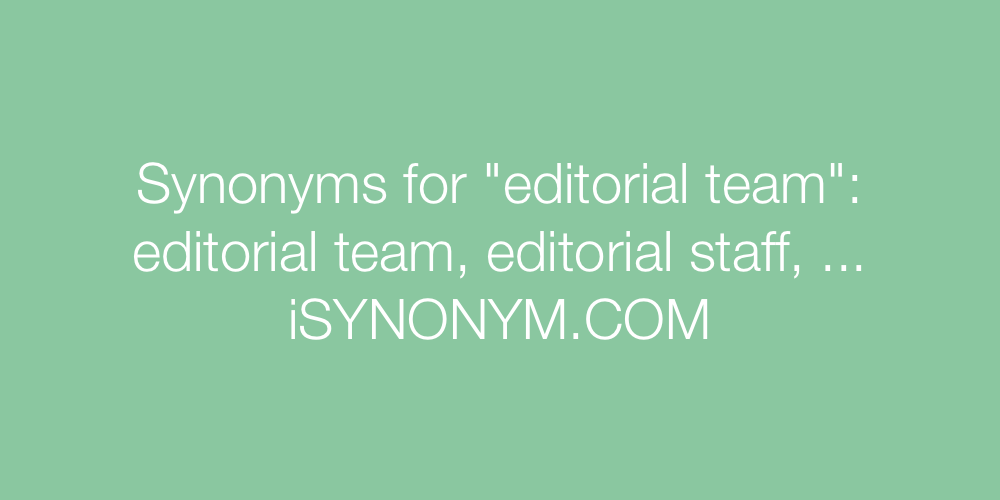 Synonyms editorial team