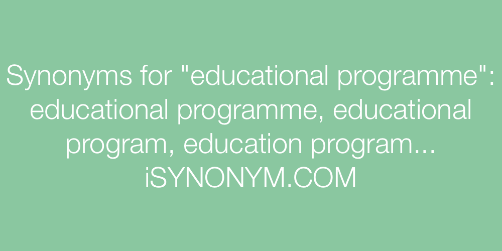 Synonyms educational programme