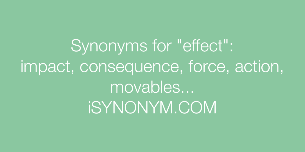 Synonyms effect