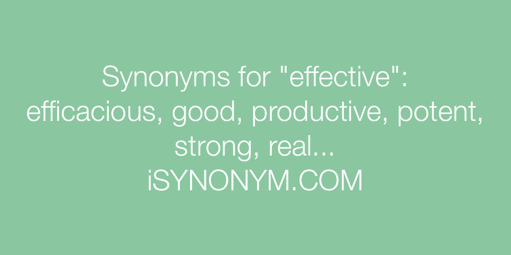 Synonyms effective