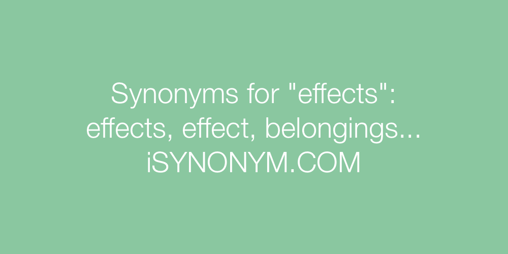 Synonyms effects