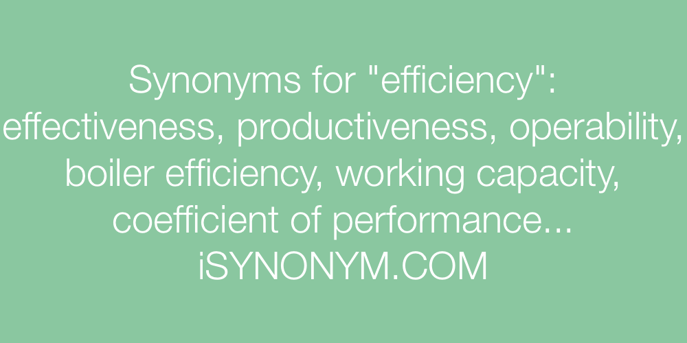 Synonyms efficiency