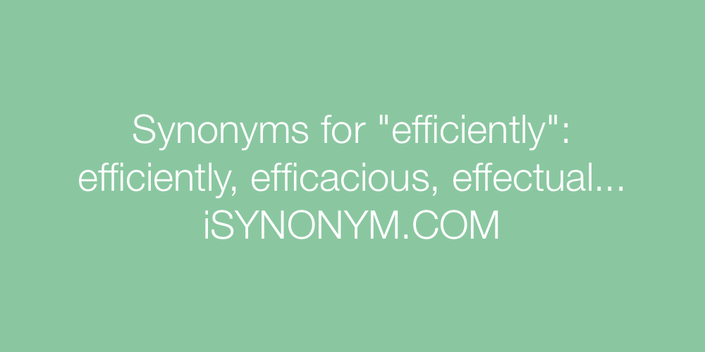 Synonyms efficiently