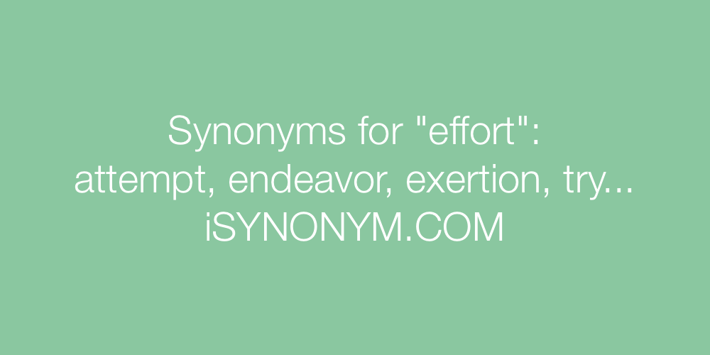 Synonyms effort
