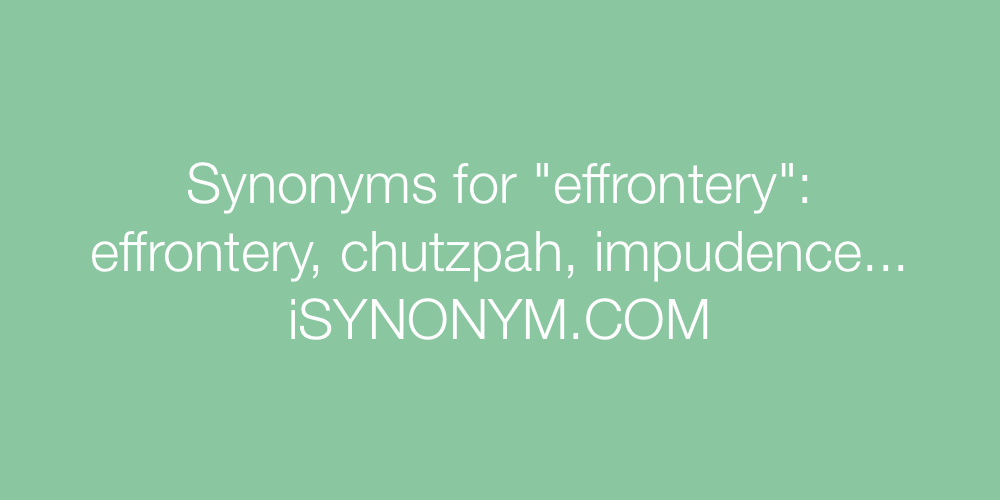 Synonyms effrontery