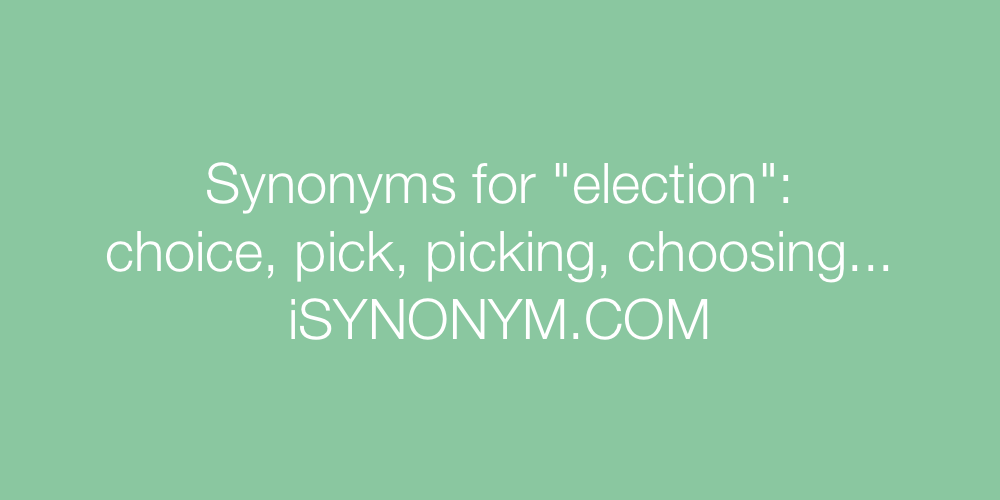 Synonyms election