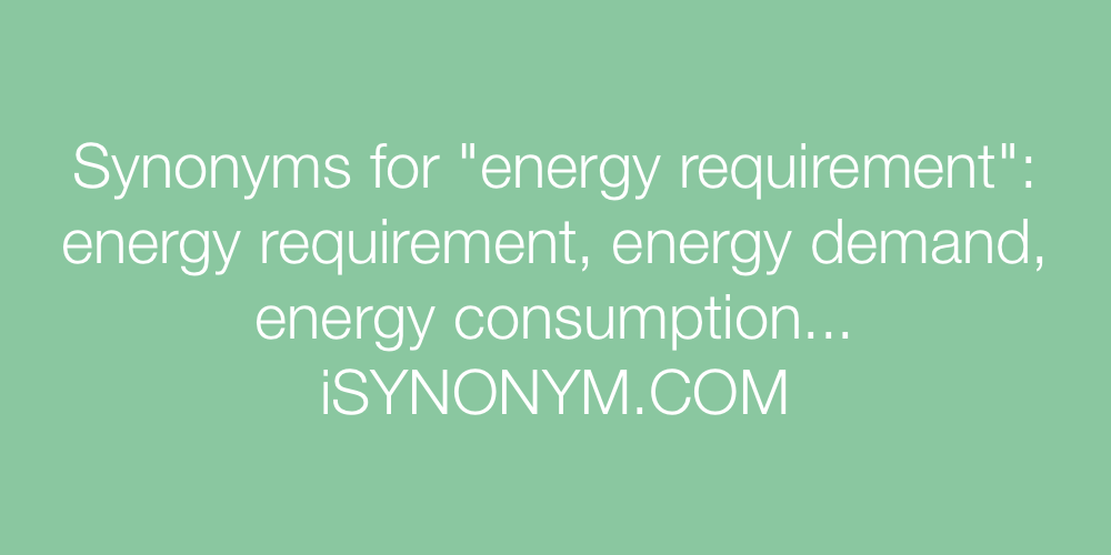 Synonyms energy requirement