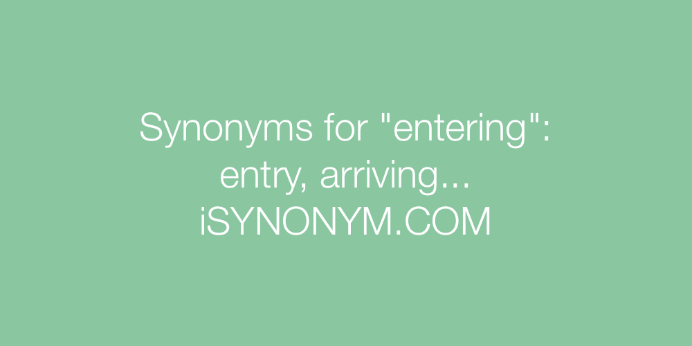 Synonyms entering
