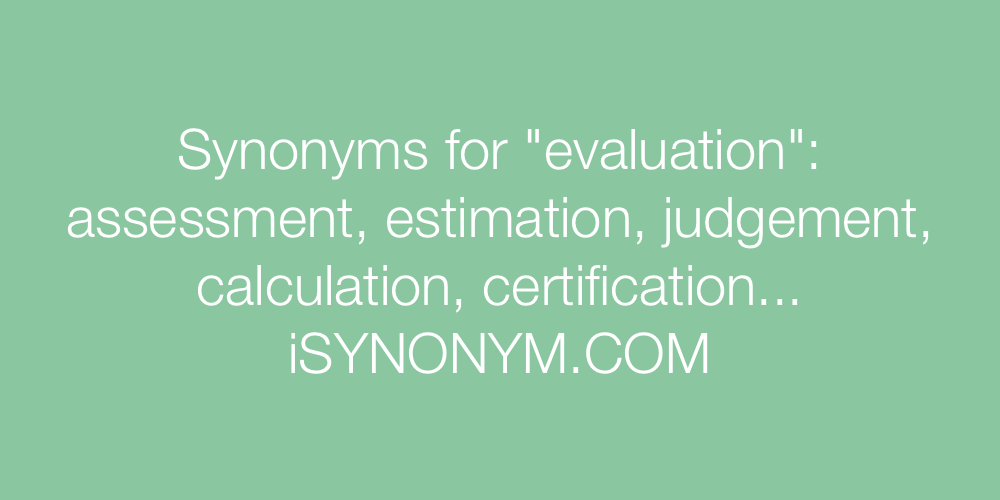 Synonyms evaluation
