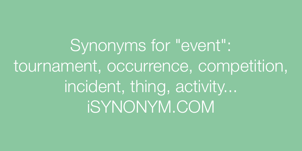 Synonyms event