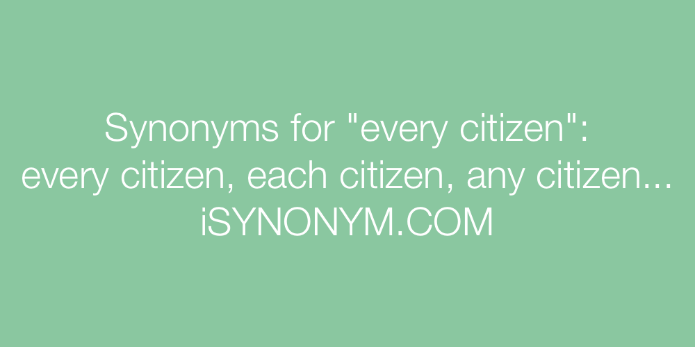 Synonyms every citizen