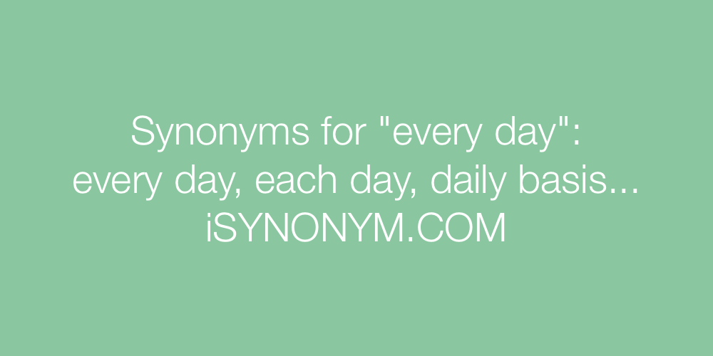 Synonyms every day