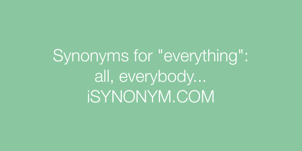 Synonyms everything