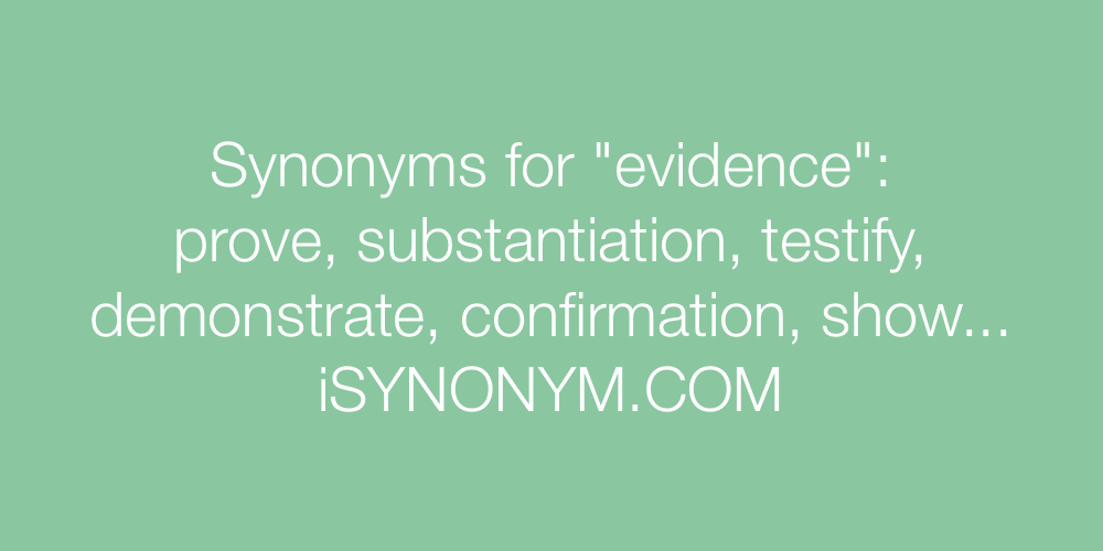 Synonyms evidence
