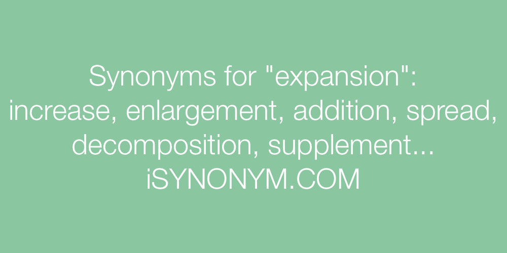 Synonyms expansion