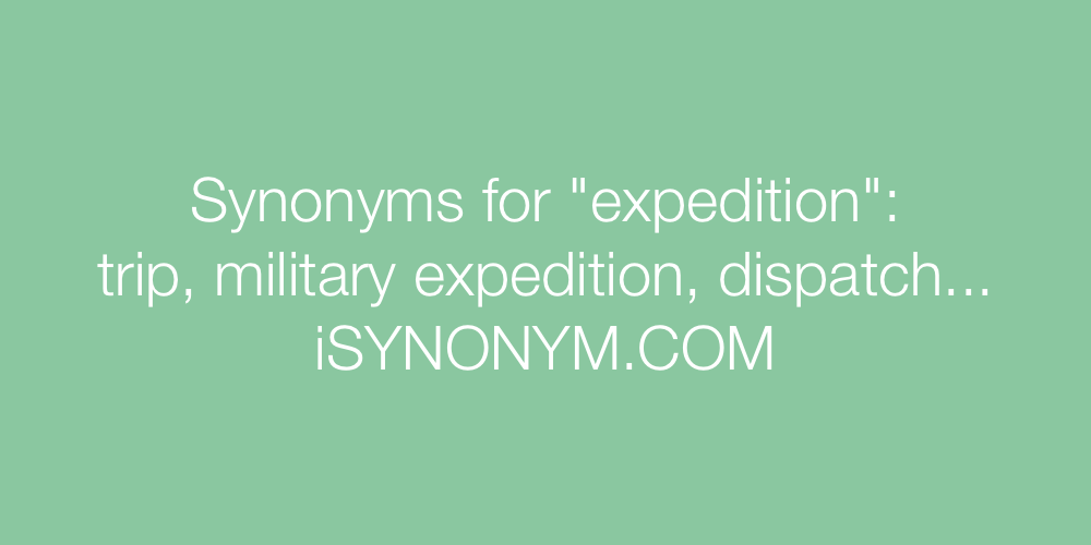 Synonyms expedition
