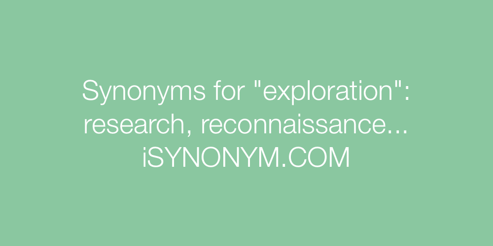 Synonyms exploration